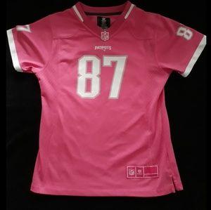 Pink NFL Patriots jersey